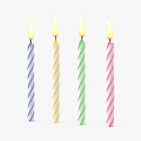 birthday candle set 3d max