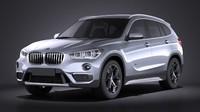 3d model 2016 bmw x1