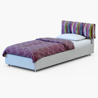 3d model bed box spring
