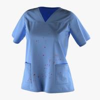 3d model female surgeon dress 18