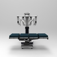 robotic surgery device operating table 3d model