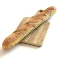 3d bread food model