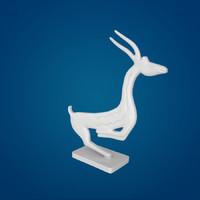 antelope sculpture 3d obj