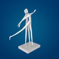 3d dancer sculpture
