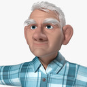 elderly man 3D models
