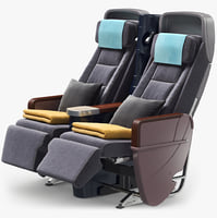 airplane chairs obj