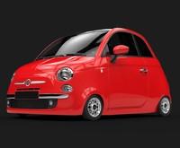 Toon Car Fiat 500