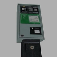 3d model weathered parking meter british