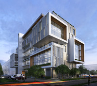 office building exterior 3d model