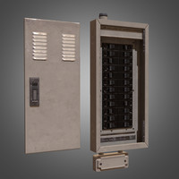Electrical Fuse Box - PBR Game Ready