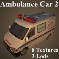 ambulance car 3d model