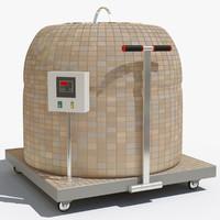 tandoor v-ray 3d model
