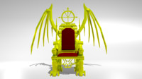 3d king throne model