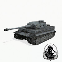 tiger heavy tank 3d model