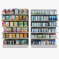 display market shelves 3d model