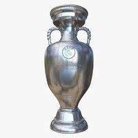 3d soccer trophy cup model