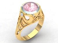 3d model filigree dress ring