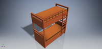 3d model of double-bed