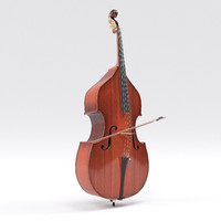 aged double bass 3d model
