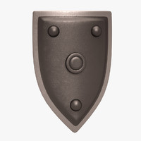 shield barbarian 3d model