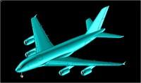 a380-800f freighter aircraft solid 3d 3dm