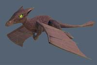 little flying dragon fbx