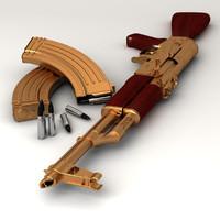 ak47 gun 3d model