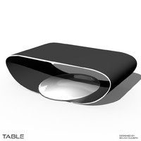 3d model futuristic table desk bench