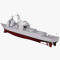 ticonderoga class cruiser port 3d 3ds