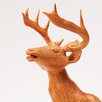 3d model wood statuette proud