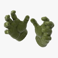 cartoon hand 3D models