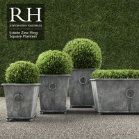 3d model realistic planters square ring