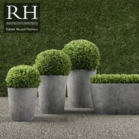 3d realistic planters