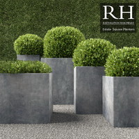 3d realistic planters square model