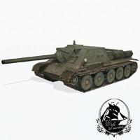 3d su-85 tank 85