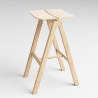3d model of hay barstool scandinavian