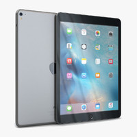3d model of apple ipad pro 9