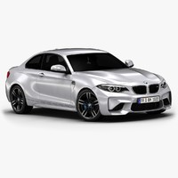 2016 bmw m2 interior 3d 3ds