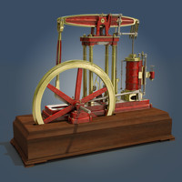 3d beam engine model