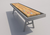 shuffleboard table discs 3d model