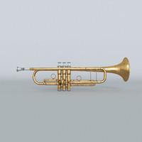 3d model aged trumpet