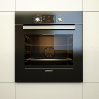 built oven bosch hbg43t360r 3d model