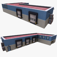 realistic warehouse 3ds