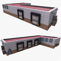 3d realistic warehouse model