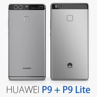 huawei p9 gray lite 3d c4d