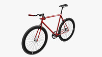 3d model photorealistic fixed bicycle