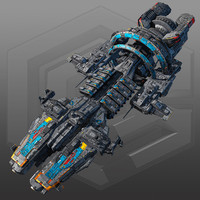 scifi commander ship g7 3d max