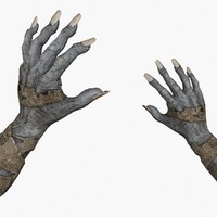 obj zombie hands animations