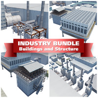 industrial buildings 3d 3ds