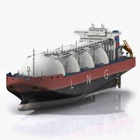 tanker boat 3d max